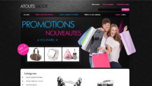 Réalisation du site Atouts mode Réunion