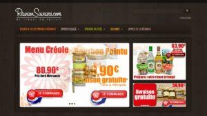 Réalisation site Réunion Saveurs boutique 2013