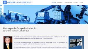 Réalisation du site du groupe Latitudes Sud