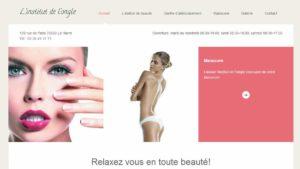 réalisation du site internet L'institut de l'ongle (France)
