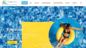 Réalisation du Site internet vitrine pour cleanic piscine