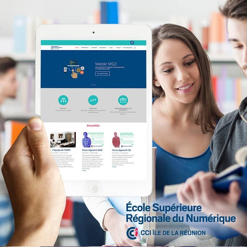 ESRN projet realise par buzz webdesign agence web reunion