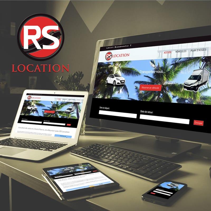 création et référencement du site RS location voiture réunion
