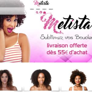 création et référencement du site boutique metista - cosmétique réunion