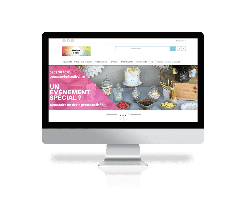 Création Site E-commerce Réunion : Sodirel