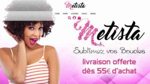 Réalisation du site e-commerce Metista (cosmetique)