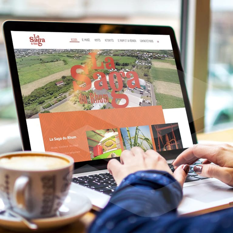 réalisation de buzz webdesign - agence web Réunion: création  du site vitrine de l'entreprise coopérative la saga du rhum