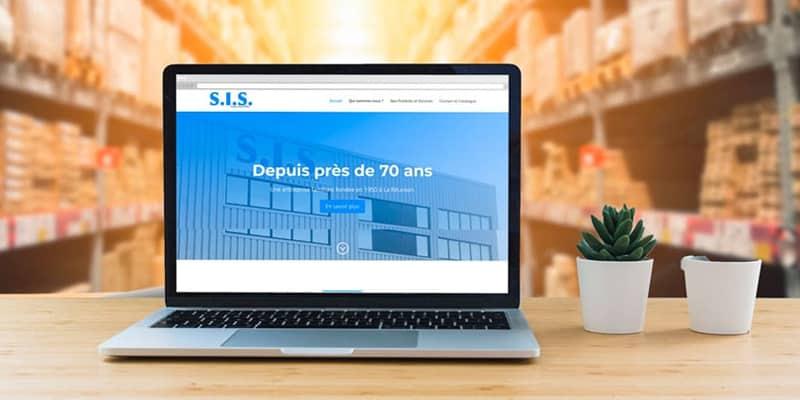 réalisation de l'agence web Réunion : création du site vitrine de l'entreprise SIS